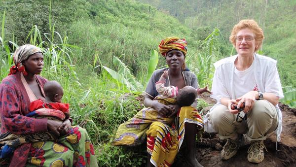 Dr. Deane Marchbein on assignment in the Democratic Republic of Congo, 2009.