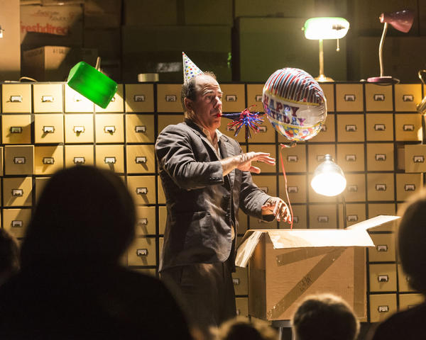 "Actor and illustionist Geoff Sobelle calls his one-man show <em>The Object Lesson</em> a ""meditation on our relationship to things, and to objects and stuff."""