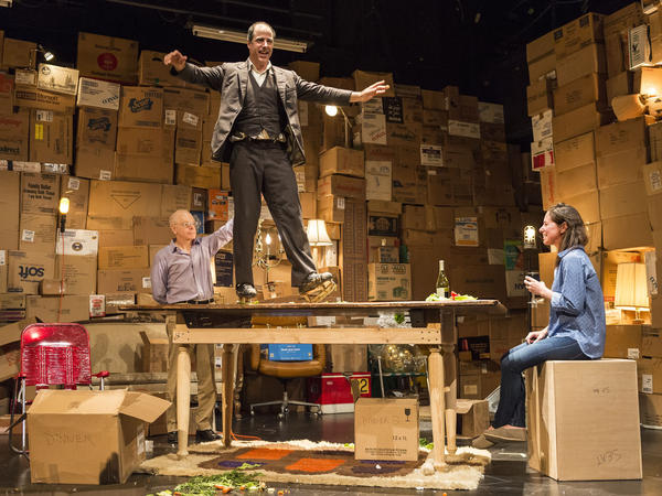 Before the evening's performance, actor Geoff Sobelle said he wondered why no one had ever tap danced while wearing ice skates. In <em>The Object Lesson</em>, he does just that — on a table.