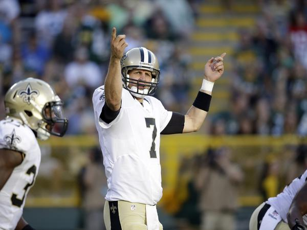 New Orleans Saints backup quarterback Luke McCown calls a play during a Sept. 3 NFL preseason football game against the Green Bay Packers. He hasn't started a regular season game since 2011.