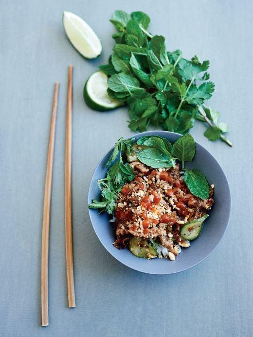 Easy Caramelized Vietnamese Pork from Ruth Reichl's <em>My Kitchen Year: 136 Recipes That Saved My Life</em>.