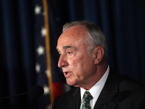 New York Police Department Commissioner William J. Bratton speaks at a news conference on Sept. 16 in New York City. Bratton announced sweeping changes to the department's use-of-force policy on Thursday.