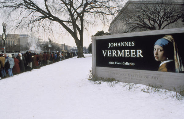 The National Gallery's first Vermeer exhibit 20 years ago drew huge crowds. It ran from November 1995 to February 1996 — during which the federal government shut down twice, and a major blizzard hit the East Coast.