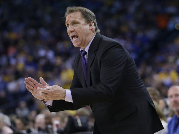 Minnesota Timberwolves announced Sunday its two-time coach Flip Saunders died. Shown here during the second half of a game against the Golden State Warriors in April.