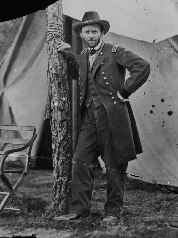 Gen. Ulysses S. Grant at headquarters in Cold Harbor, Va., June 1864