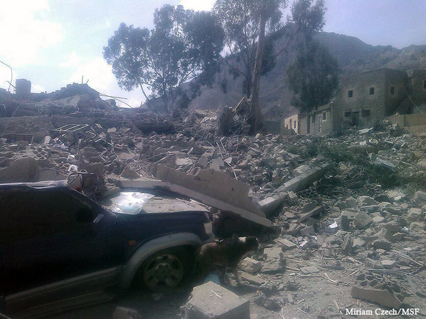 A Doctors Without Borders Hospital in Yemen was destroyed by an airstrike on Monday.