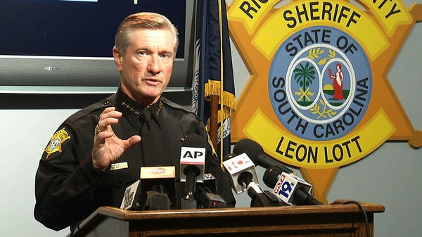 Richland County Sheriff Leon Lott announces the firing of Ben Fields, a senior deputy who forcibly removed a female student who refused to leave her high school math class at Spring Valley High School on Monday.