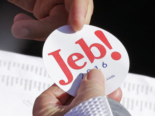 Jeb Bush's campaign spent 1/1,000th of the money Donald Trump spent on campaign swag in the third quarter of 2015.