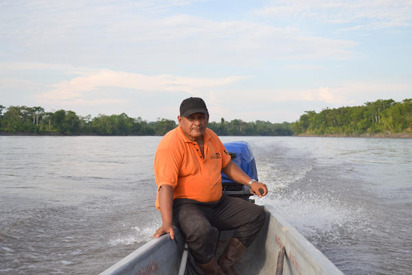 Emilio Rivera grows cacao and coffee on a small farm in the Ecuadorian Amazon that's only reachable by boat.