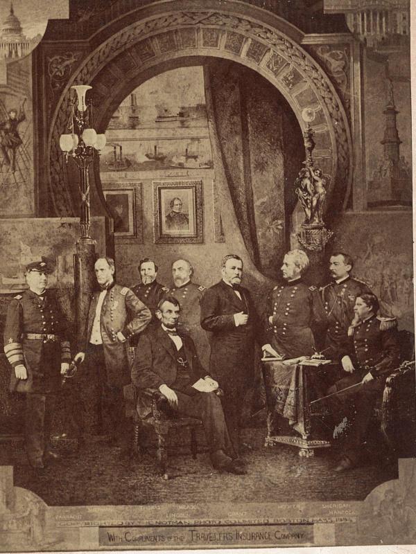 Union commanders in composite photo, 1883-84.