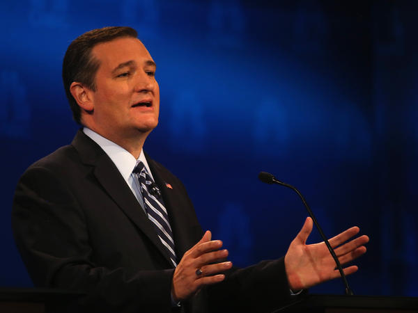 Presidential candidate Sen. Ted Cruz (R-TX) speaks during the CNBC Republican Presidential Debate at University of Colorado's Coors Events Center on Oct. 28, 2015 in Boulder, Colorado.