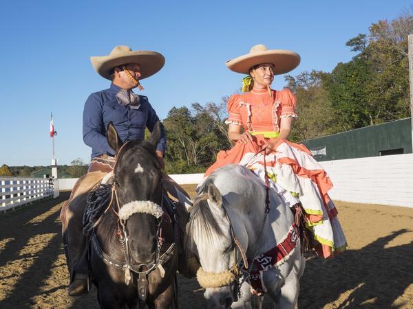 The Amazona's coach, Avelardo Sandoval, with Mariseli Castro after the show.