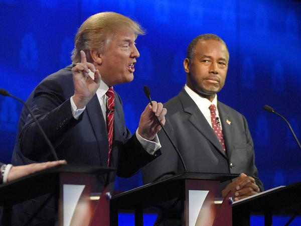 Donald Trump and Ben Carson will again be center stage Tuesday during Fox Business Channel's debate.