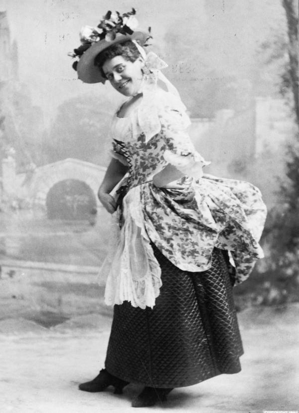 "Comic actor Fanny Rice, sometimes billed as the Funniest Woman in America,€"" in 1896."