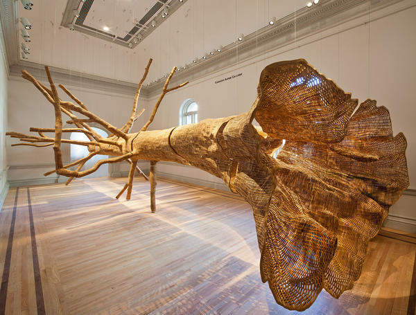 John Grade modeled this tree on a 150-year-old hemlock he found in the Cascade Mountains.