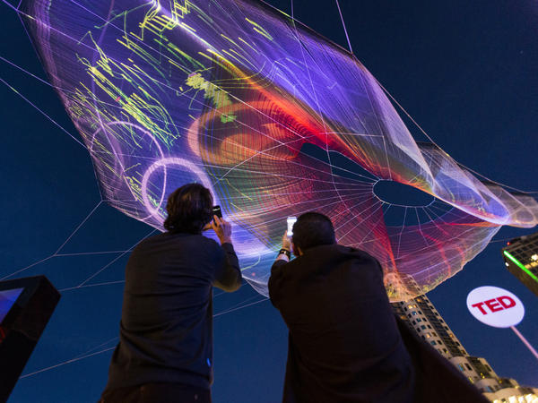 """Skies Painted with Unnumbered Sparks"" in Vancouver, Canada for the TED Conference's 30th Anniversary"