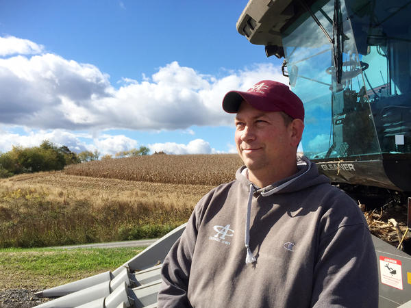 Lucas Criswell farms close to 2,000 acres in Pennsylvania's Susquehanna Valley. He has stopped using neonic-treated seeds on some of his crops.