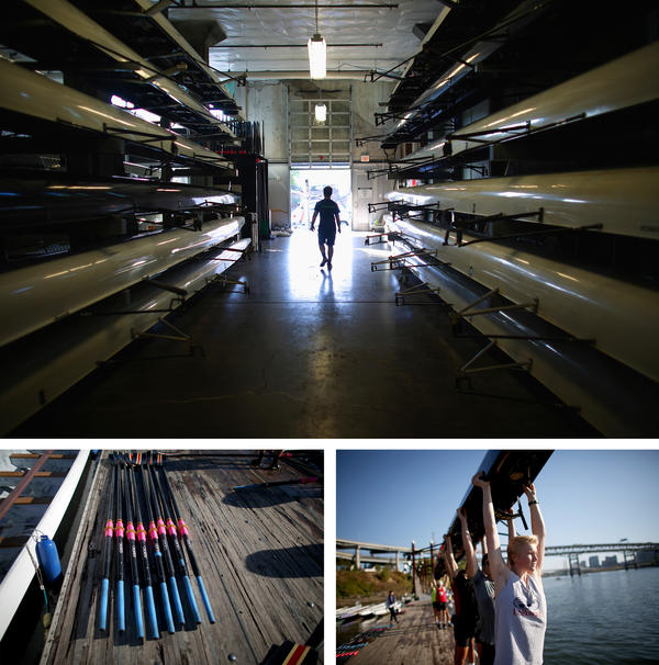 Athletes at the Rose City Rowing Club learn to respect the equipment.