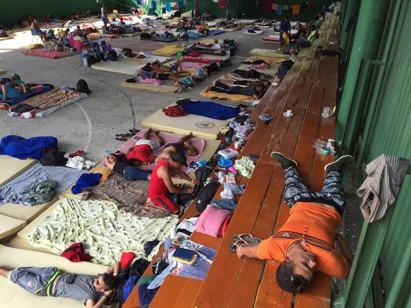 More than 500 Cuban immigrants hoping to reach the United States live at this school turned shelter in northern Costa Rica after Nicaragua, a Cuban ally, closed its border to them.