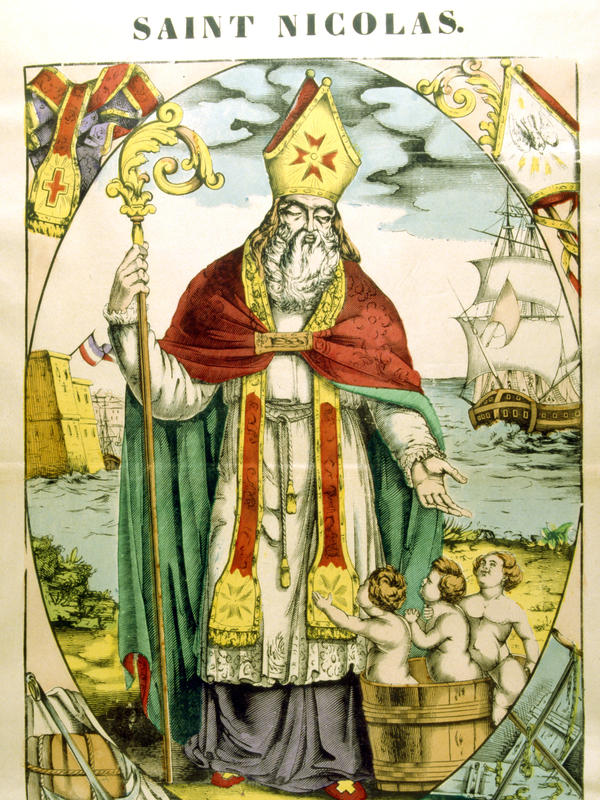 A depiction of St. Nicholas from the 19th century.