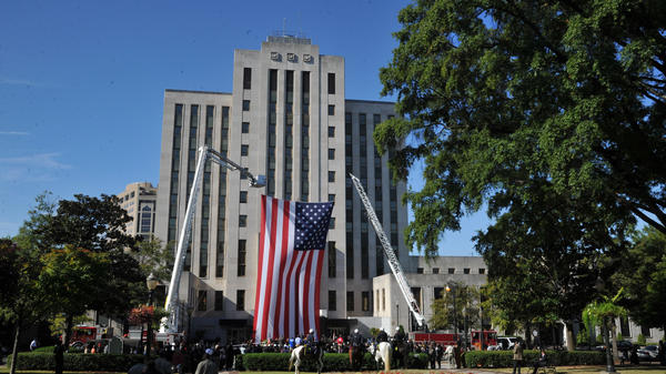 City Hall in Birmingham, Ala. A recent meeting there ended with the mayor and a councilman going to the hospital after engaging in fisticuffs.