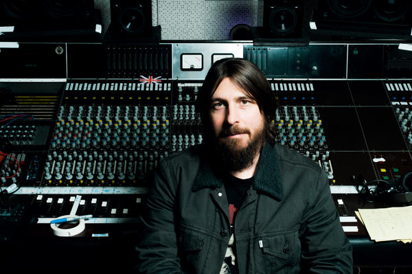 "Producer Dave Cobb in the studio at his Nashville home. Cobb's work has added traditional notes to the slick sound that dominates country, but he challenges the idea that what he's doing is more ""authentic."""