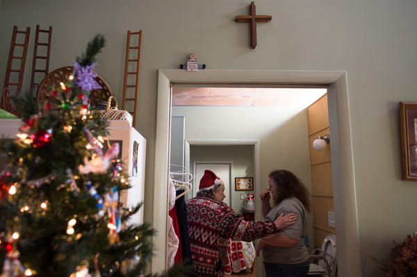 """When Mary asked Helen what she wants for Christmas, Helen said: """"All I ask is to be in good spirits and in good health so I can come and show myself off when we have the party."""""""
