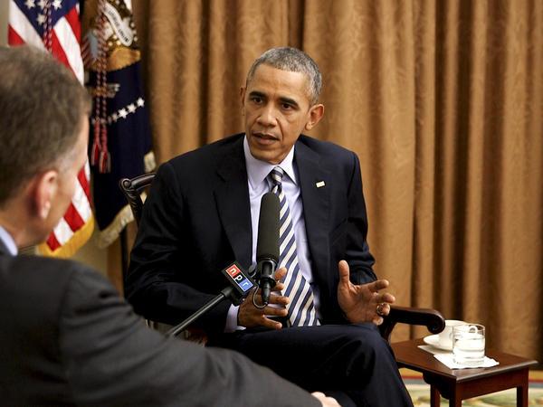 NPR's Steve Inskeep interviews President Obama at the White House.