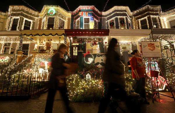 "Onlookers come to admire the self-proclaimed ""Miracle on 34th Street"" in the Baltimore neighborhood of Hampden. But not every country has as much electricity as America does."