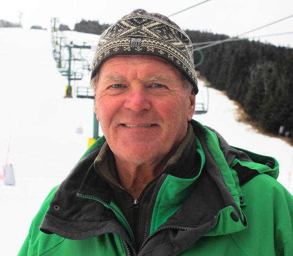 Vladimir Popov is known throughout the valley as the opera-singing chairlift operator. (Sean Hurley/New Hampshire Public Radio)