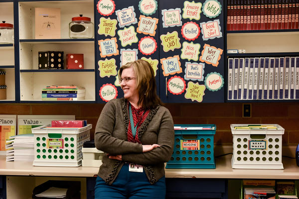 Stephanie Johnson teaches special education classes at Oak Canyon Junior High School in Lindon, Utah. She says the paperwork is a constant frustration.