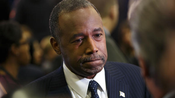 Ben Carson after this month's Republican presidential debate in Las Vegas.