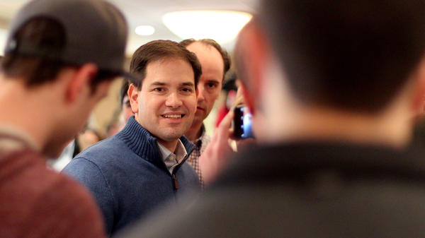 Republican presidential candidate Marco Rubio during a campaign stop Sunday in Atkinson, N.H.