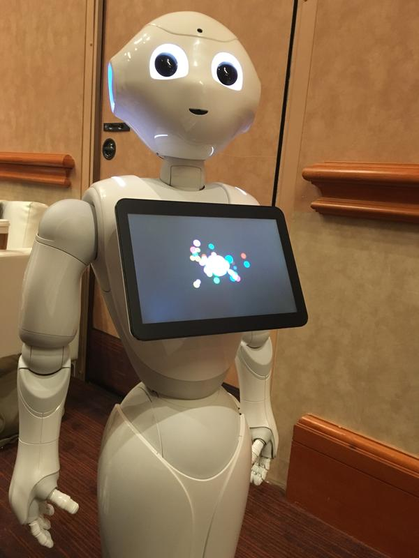 Pepper the robot at CES, the consumer electronics show in Las Vegas.