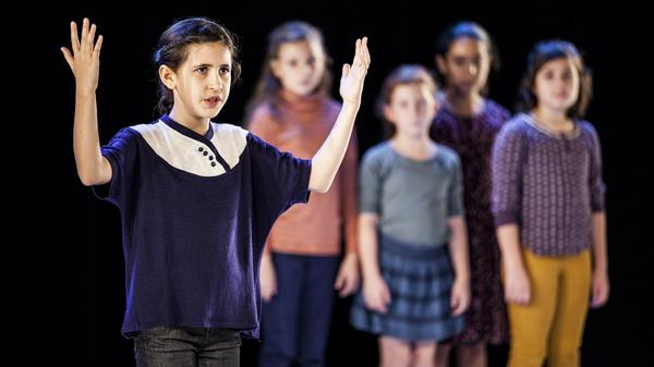 Violet Newman is one of five young girls who make up the cast of <em>Employee of the Year</em>, one of the plays being featured at this year's Under the Radar Festival.