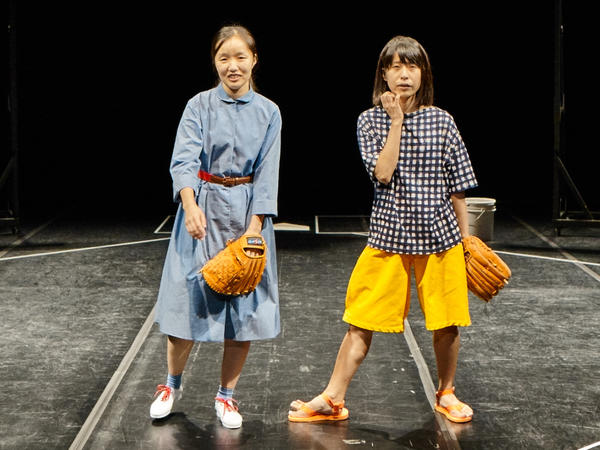 """Sung Hee Wi and Aoi Nozu perform in Japan's <a href=""""http://www.publictheater.org/Tickets/Calendar/PlayDetailsCollection/UTR/2016/God-Bless-Baseball/?SiteTheme=UnderTheRadar"""" target=""""_blank"""">God Bless Baseball</a>, which explores the sport's popularity in the country."""