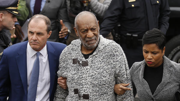 Lawyer Monique Pressley accompanied Bill Cosby and lawyer Brian McMonagle at a criminal court appearance in Elkins Park, Pa., last month.