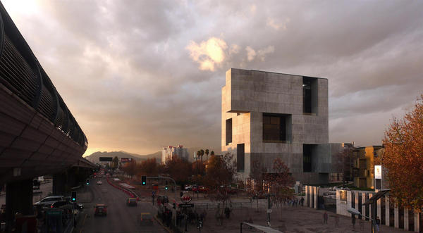 "<strong>UC Innovation Center, San Joaquín Campus, Universidad Católica de Chile, 2014: </strong>""We proposed a rather opaque construction toward the outside, which is also efficient for the Santiago weather, and then have a very permeable architecture inside,"" Aravena says."