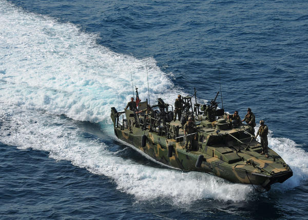This is the same kind of riverine command boat that was being used by the 10 sailors being held by Iran.