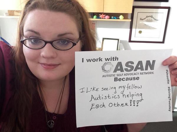 Savannah Logsdon-Breakstone visits the Autistic Self Advocacy Network (ASAN) office in Washington, D.C.