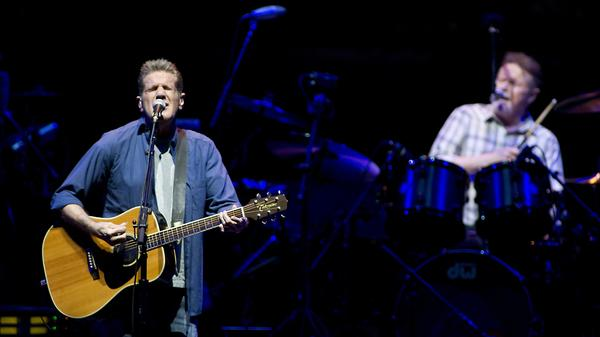 Glenn Frey (left) and Don Henley perform with The Eagles in Amsterdam in 2014.