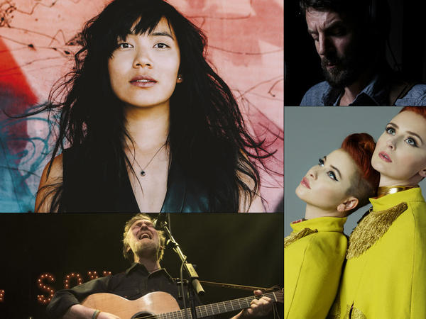 Clockwise from upper left: Thao & The Get Down Stay Down, Ray LaMontagne, Lucius, Glen Hansard