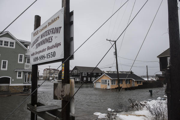 The winter storm mixed with high tide caused flooding in Cape May, N.J., on Saturday. Severe flooding up and down the coast has, in some areas, topped the water levels caused by Hurricane Sandy.