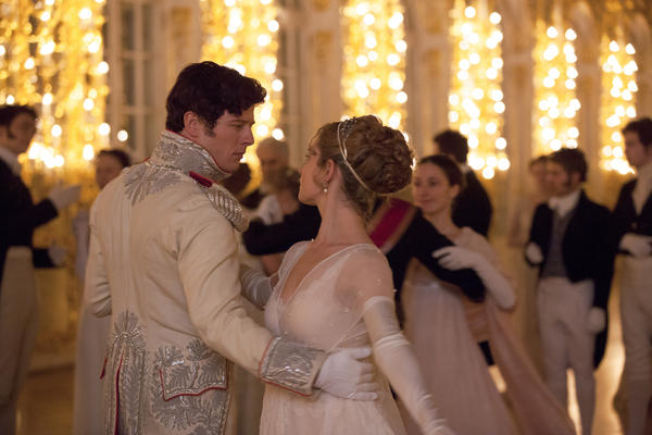 """Producer Harvey Weinstein has loved <em>War and Peace </em>ever since he first read it (slowly) at age 12. """"It's sexy; there's nudity. It's unbelievable,"""" he says. Above, James Norton as Andrei and Lily James as Natasha."""