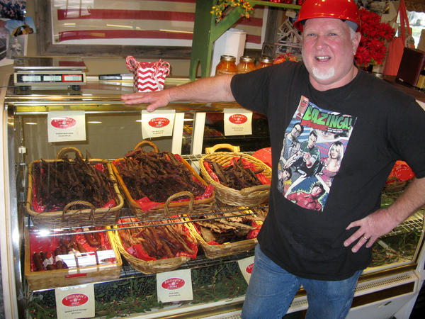 Sam Whittington makes jerky in Johnson City, Texas, the way his father did when he started the company in 1963. Jerky is so popular today that Whittington's custom-smokes jerky for other producers.