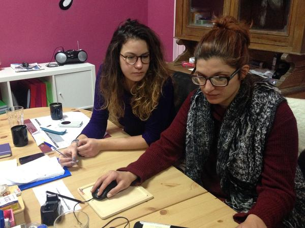 Christina Dimakou (right), a 30-year-old lawyer, works on the Greek island of Lesbos as a guardian for refugee and migrant children who travel alone.