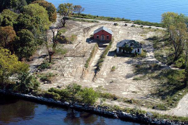 Trenches for designated burial sites can be seen on Hart Island.