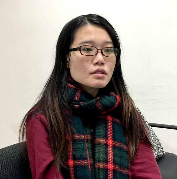 Yvonne Leung, the former head of the University of Hong Kong's student union, and a prominent figure during the 2014 pro-democracy Umbrella Movement, led students in a protest last month to call for a more democratic governance structure at the university.