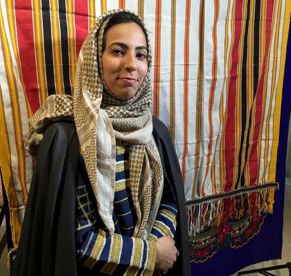 The work of Saudi artist Njoud Alanbari focuses on issues surrounding female education.