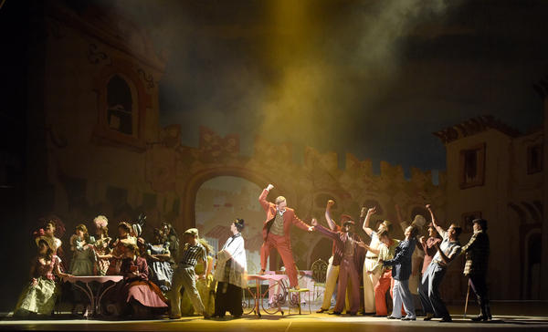 """<em>Kiss Me, Kate</em> is the latest in a series of American musicals to be performed at the Theatre du Chatelet in Paris. """"It is such a glorious theater to perform in,"""" says director Lee Blakeley."""